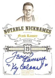 2009/10 Panini National Treasures Frank Ramsey Nickname Autograph Card