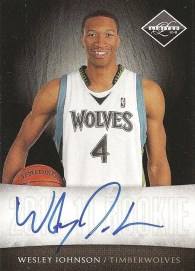 2010-11 Panini Limited Wesley Johnson Autograph RC
