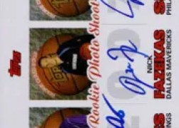 2007/08 Topps Rookie Photo Shoot Triple Autograph RC