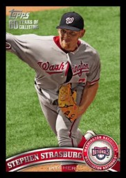 2011 Topps Series 1 Stephen Strasburg Black Parallel Base Card