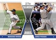 2011 Topps Diamond Duos Mariano Rivera Jorge Posada Insert Card
