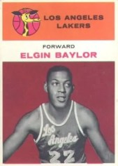 1961/62 Fleer Elgin Baylor Rookie RC