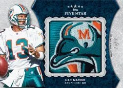 2010 Topps Five Star Dan Marino Jumbo Patch Relic Card