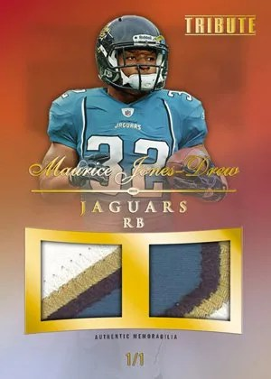 2010 Topps Tribute Maurice Jones Drew Dual Jersey Relic Card