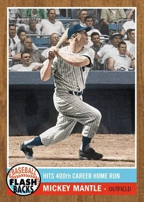 2011 Topps Heritage Mickey Mantle Flashbacks Insert Card
