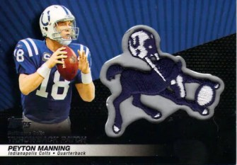 2010 Topps Peyton Manning Throwback Patch