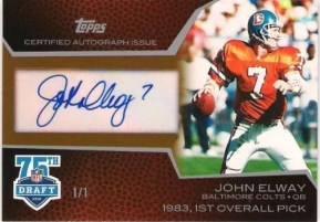 2010 Topps John Elway Cut Signature Auto Autograph