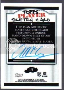 2010 Topps Sketch Card Colt McCoy Autograph Auto