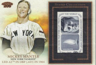2010 Topps 206 Mickey Mantle Stamp Card