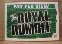 2010 Slam Attax Mayhem Royal Rumble PPV Card