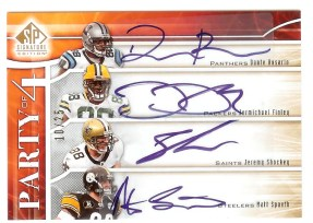 2009 Sp Signature Party of 4 Four Autograph