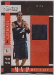 2010/11 Panini Timeless Treasures Allen Iverson MVP Materials Jersey Card