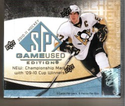 2010/11 Upper Deck UD Sp Game Used Hockey Hobby Box