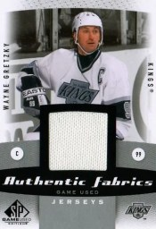 10/11 Sp Game Used Wayne Gretzky Jersey Authentic Fabrics
