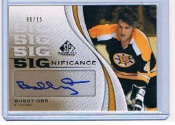 2010/11 Sp Game Used Bobby Orr Autograph Sp