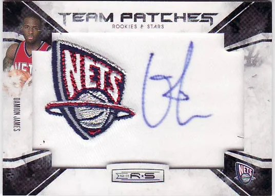 2010/11 Panini Rookies and Stars Team Patches Autograph Damon James RC Card