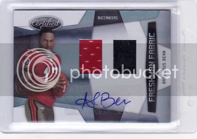 2010 Panini Certified Football Freshman Fabric Arrelious Benn Autograph Material Card