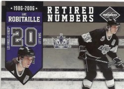 2010/11 Panini Limited Luc Robitaille Retired Numbers
