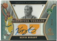 2007/08 SP Rookie Threads Kevin Durant Autograph