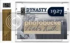 2010 Famous Fabrics Babe Ruth Dynsasy Cut Autograph