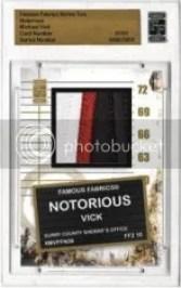 2010 Famous Fabrics Michael Vick Notorious