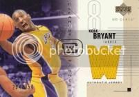 03/04 UD Glass Kobe Bryant Clearcut Winners Jersey