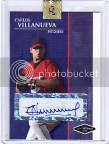2009 Just Minors Carlos Villanueva Autograph Card