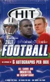 2011 Sage Hit Low Series Football Box