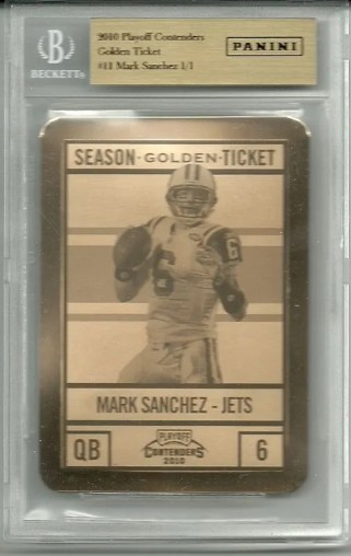 2010 Playoff Contenders Mark Sanchez Golden Ticket