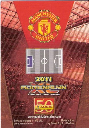 2010-11 Panini Adrenalyn Manchester United Back