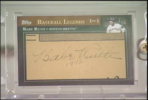 2010 Topps Update Babe Ruth Cut Signature Autograph /1