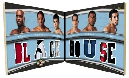 2010 Topps UFC Knockout Triple Threads Double Combo Six Panel Relic Book Card