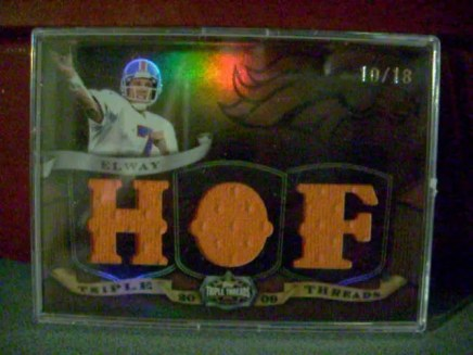 2009 Topps Triple Threads John Elway #/18