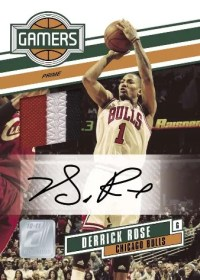 2010/11 Donruss Derrick Rose Gamers Autograph Card