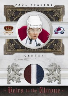 2010/11 Panini Crown Royale Heirs to the Throne Paul Stastny Jersey Card