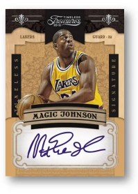 2010/11 Panini Timeless Treasures Silver Signature Magic Johnson
