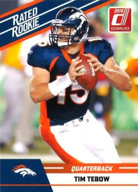 2010 Panini Donruss Rated Rookie Tim Tebow Card