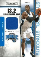 2010/11 Panini Rookies and Stars Dwight Howard Statistical Standouts Dwight Howard Jersey Card