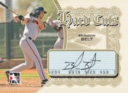 10/11 ITG Heroes Prospects Brandon Belt Cut Autograph Signature