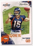 2010 Score Tim Tebow Autograph Parallel RC Rookie Card