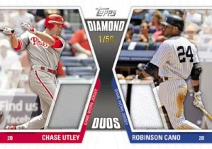 2011 Topps Series 2 Diamond Duos Jersey Utley/Cano