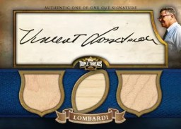 2010 Triple Threads Vince Lombardi Cut Auto Triple Relic