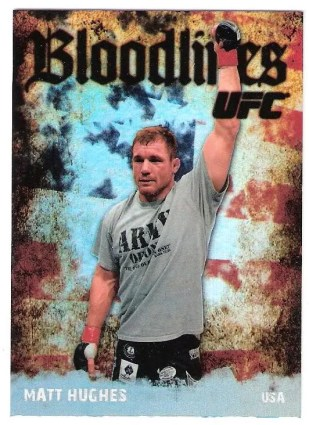 2009 Topps UFC Bloodlines Matt Huges Card