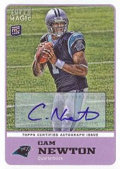2011 Topps Magic Cam Newton Autograph RC Rookie Card