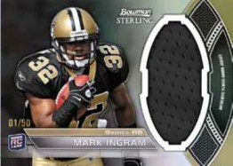 2011 Bowman Sterling Football Mark Ingram Relic Card