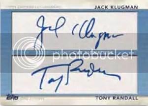 2011 Topps American Pie Jack Klugman - Tony Randall Cut Autograph Card