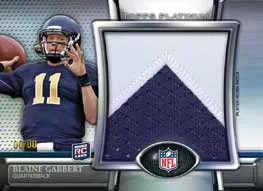 2011 Topps Platinum Football Blaine Gabbert Jumbo Patch Card