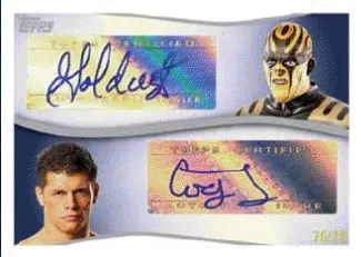 2011 Topps WWE Dual Autograph Card