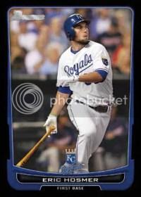 2012 Bowman Eric Hosmer Base Card