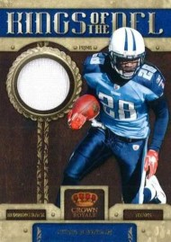 2011 Panini Crown Royale Kings Of the NFL Prime Jersey Chris Johnson Card